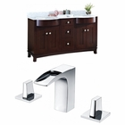 61.8-in. W Floor Mount Coffee Vanity Set For 3H8-in. Drilling