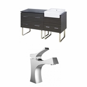 61-in. W Floor Mount Dawn Grey Vanity Set For 1 Hole Drilling