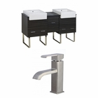 American Imaginations 62-in. W Floor Mount Dawn Grey Vanity Set For 1 Hole Drilling