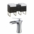 62-in. W Floor Mount Dawn Grey Vanity Set For 1 Hole Drilling