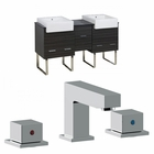 62-in. W Floor Mount Dawn Grey Vanity Set For 3H8-in. Drilling