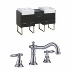 American Imaginations 62-in. W Floor Mount Dawn Grey Vanity Set For 3H8-in. Drilling