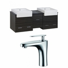 62-in. W Wall Mount Dawn Grey Vanity Set For 1 Hole Drilling
