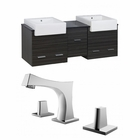 62-in. W Wall Mount Dawn Grey Vanity Set For 3H8-in. Drilling