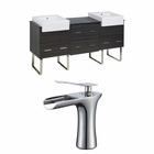 American Imaginations 72-in. W Floor Mount Dawn Grey Vanity Set For 1 Hole Drilling