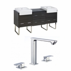 72-in. W Floor Mount Dawn Grey Vanity Set For 3H8-in. Drilling