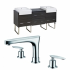 American Imaginations 72-in. W Floor Mount Dawn Grey Vanity Set For 3H8-in. Drilling