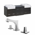 72-in. W Wall Mount Dawn Grey Vanity Set For 3H8-in. Drilling
