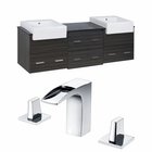American Imaginations 72-in. W Wall Mount Dawn Grey Vanity Set For 3H8-in. Drilling