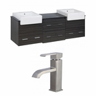 74-in. W Wall Mount Dawn Grey Vanity Set For 1 Hole Drilling