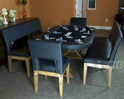 8 Player Modern Rustic Poker Table Set PT-77081
