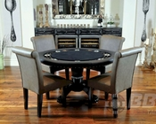 8 Player Round Poker Table Set with Premium Chairs PT-77041P