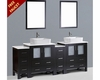 84in Double Rectangular Vessel Sink Vanity by Bosconi BOAB230RC2S