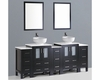 84in Double Round Sink Vanity by Bosconi BOAB224RO3S