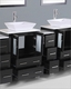 84in Double Square Vessel Sink Vanity by Bosconi BOAB224S3S