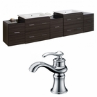 89.5-in. W Wall Mount Dawn Grey Vanity Set For 1 Hole Drilling