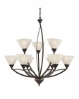 ELK 9 Light Chandelier in Oil Rubbed Bronze EK-17648-6-3