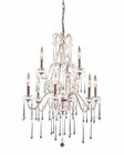 ELK 9 Light Chandelier in Rust and Clear Crystal EK-4013-6-3CL