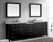 93in Espresso Bathroom Set Caroline by Virtu USA VU-MD-2193-WMSQ-ES