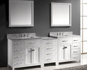 93in White Bathroom Set Caroline by Virtu USA VU-MD-2193-WMSQ-WH
