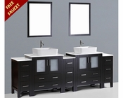 96in Double Rectangular Vessel Sink Vanity by Bosconi BOAB230RC3S