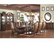 9pc Traditional Dining Set in Warm Cherry MCFRD400