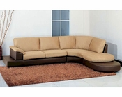 Abbyson Casablanca Sectional Sofa with Ottoman AB-55CI-1236-MOC