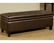 Abbyson Easton  Double Cushion Storage Ottoman AB-55CI-D10364-DB-OT