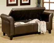 Abbyson Easton Bonded Leather Storage Ottoman Bench AB-55CI-D10363-BEN
