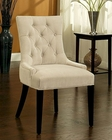 Abbyson Franklin Microsuede Tufted Dining Chair AB-55HS-DC-013-CRM