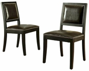 Abbyson Havana Dining Chair (Set of 2) AB-55HS-DC-007-BRN-2PCK