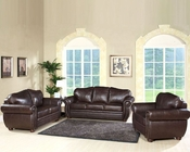 Abbyson Living 3 pc Sofa Set Berkely AB-55CI-D320-BRN-3-2-1