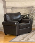 Abbyson Living Armchair London AB-55CH-1918-BRN-1