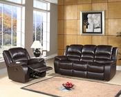 Abbyson Living Reclining Sofa Set Ashlyn AB-55CH-8801-BRN-3-1