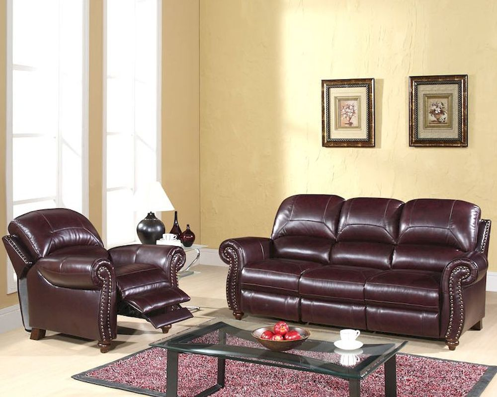 Abbyson Living Reclining Sofa Set Cambridge AB-55CH-8857 ...