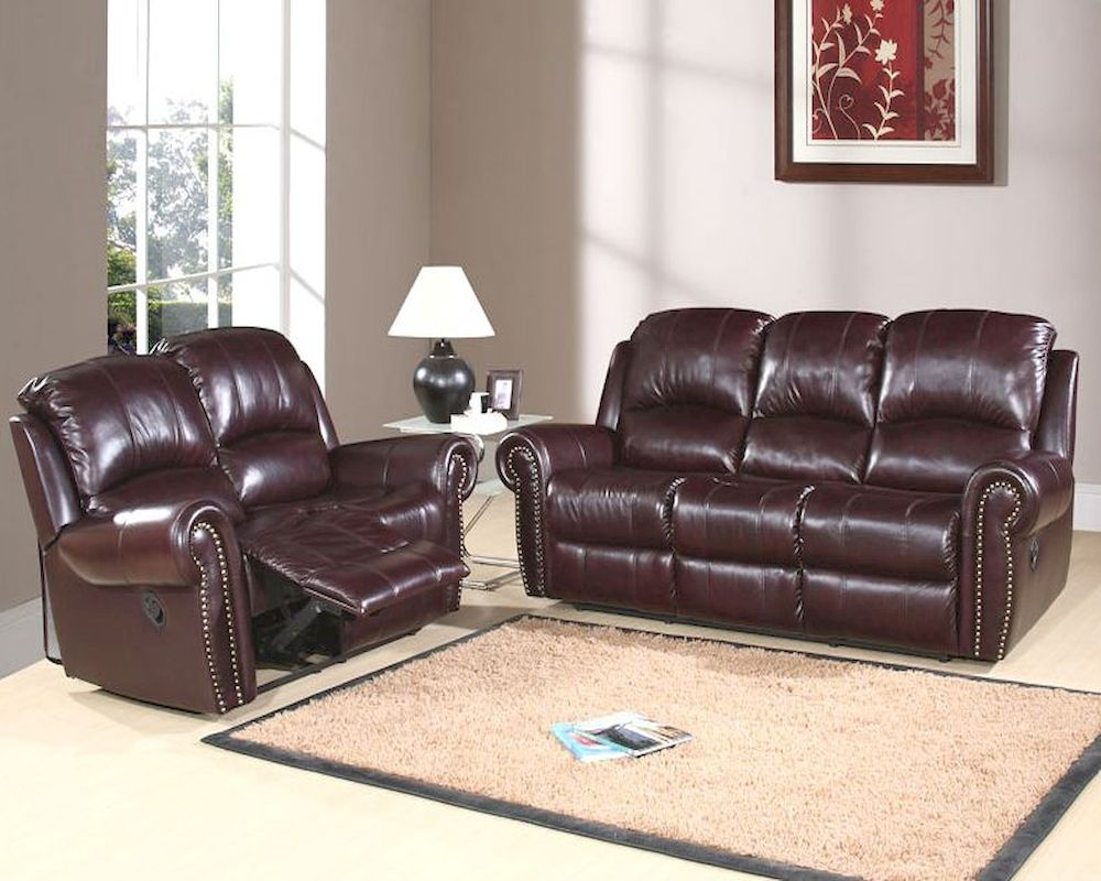 Abbyson living reclining sofa set lexington ab 55ch 8811 for Abbyson living sedona leather chaise recliner