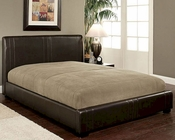 Abbyson Malibu Bi-cast Leather Queen-Size Bed AB-55LI-HC001QU-BRN