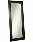Abbyson ManChester Leather Large Floor Mirror AB-55HS-MIR-300-BLK