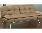 Abbyson Monroe Cappuccino Faux Leather Euro Lounger AB-55MS-M33-COF
