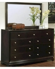 Abbyson Plaza 9-Drawer Dresser and Mirror Set AB-55HM-5050-2540/10