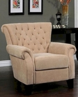 Abbyson Signature Tufted Fabric Armchair  AB-55HS-SF-450-CRM