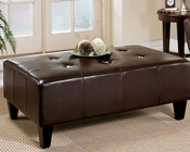 Abbyson Soho Bicast Leather Rectangle Ottoman AB-55HS-OT-006