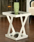 Abbyson Zentro Glass End Table AB-55AD-212-END-WHT