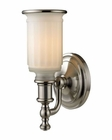 ELK Acadia Collection 1 light bath in Brushed Nickel EK-52000-1