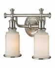 ELK Acadia Collection 2 light bath in Brushed Nickel EK-52001-2