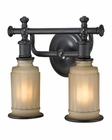 ELK Acadia Collection 2 light bath in Oil Rubbed Bronze EK-52011-2