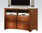 Acme Antique Oak TV Console Brandon AC11017