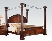 Acme Bed in Walnut w/ Canopy Roman Empire III AC23340BED