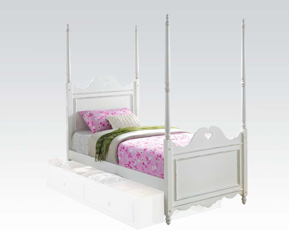 Acme Bed W Heart Shaped Design Sweetheart Ac30170bed