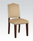 Acme Beige Microfiber Side Chair Bandele AC70383 (Set of 2)